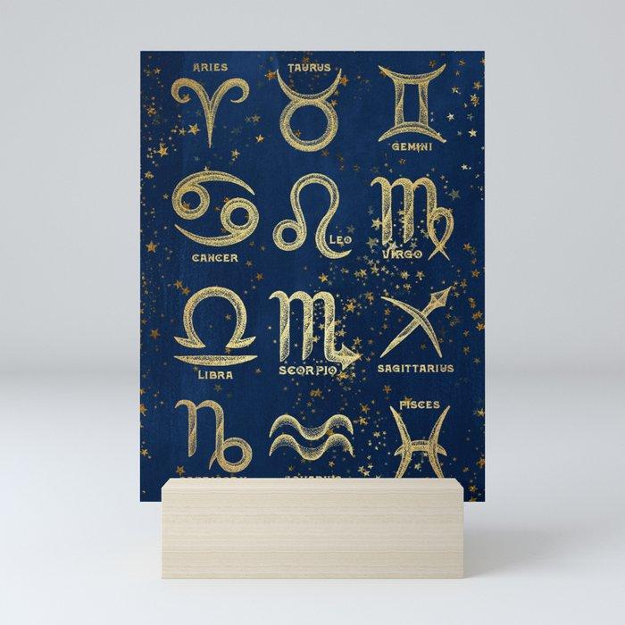 The 12 Zodiac Signs Mini Art Print