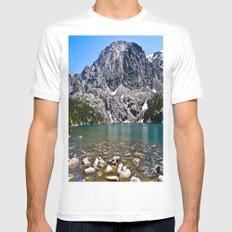 Phantom Lake Mens Fitted Tee MEDIUM White