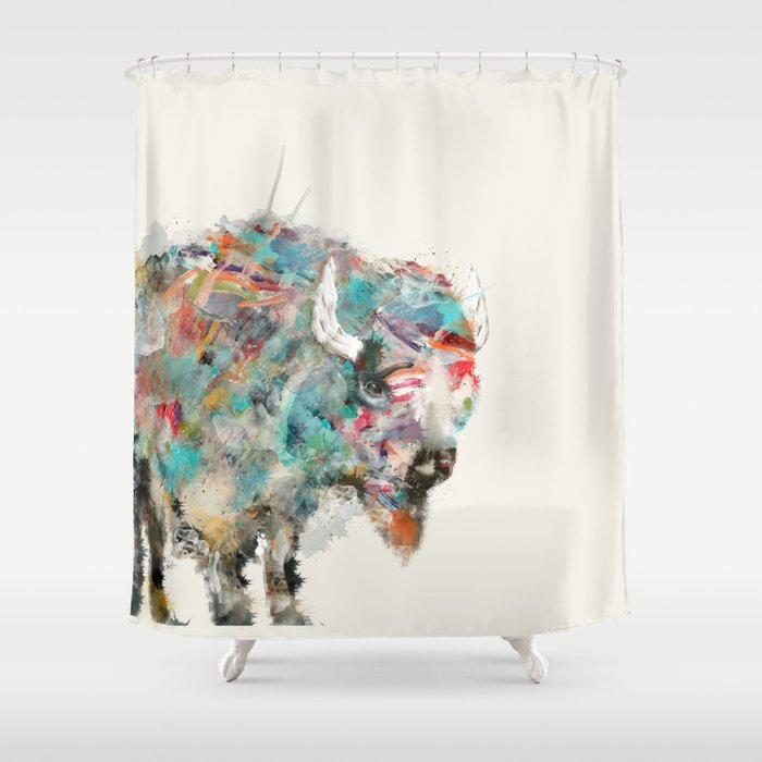 Into The Wild Buffalo Shower Curtain