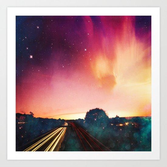 light speed Art Print
