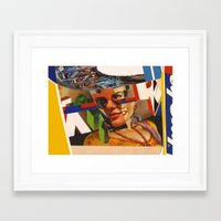racing Framed Art Prints featuring Racing by image butcher