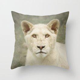 White lion cub Throw Pillow