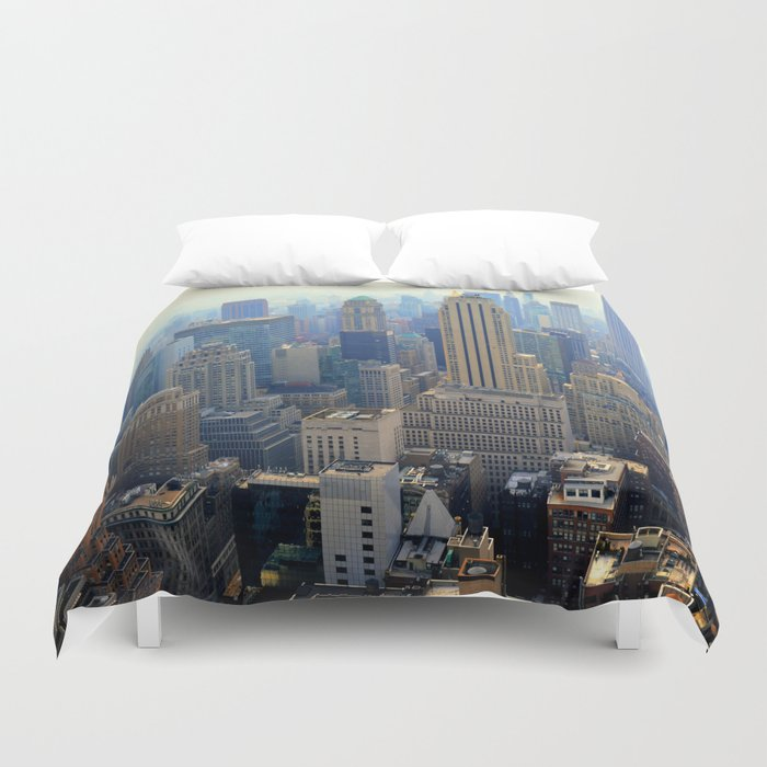 new York skyscraper view Duvet Cover