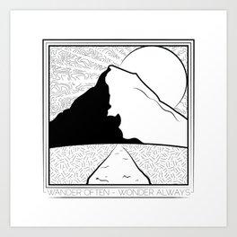 Wander Often - Wonder Always Art Print