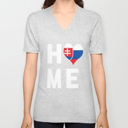 Slovakia Is My Home Shirt Unisex V-Neck