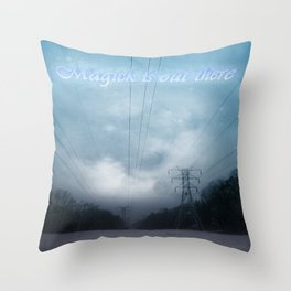 Midnight magick with title Throw Pillow