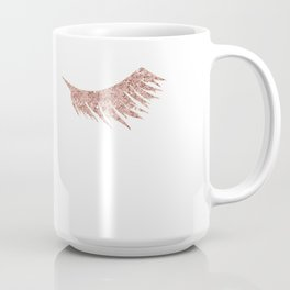 Pretty Lashes Rose Gold Glitter Pink Coffee Mug