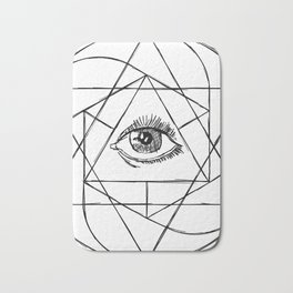 The All Seeing Eye Bath Mat