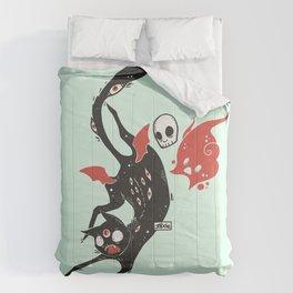 Creepy Cute Black Cat Comforters