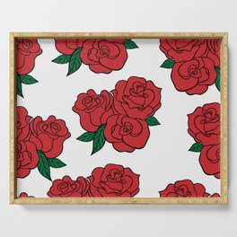 Classic Rose Serving Tray