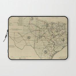 Vintage Texas Highway Map (1917) Laptop Sleeve