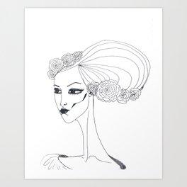 flowers in a hair Art Print