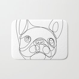 Chaca the Frenchie Bath Mat