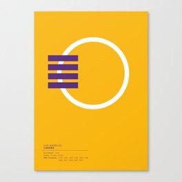 Los Angeles Lakers geometric logo Canvas Print