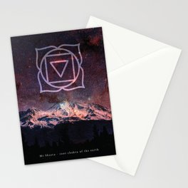 Root Chakra of the Earth - Mount Shasta Stationery Cards