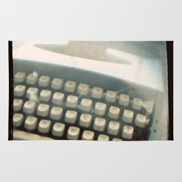 Blue Typewriter TTV Rug