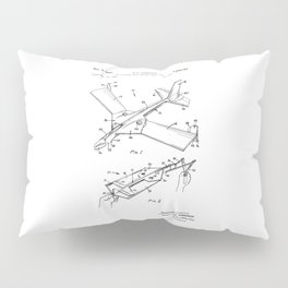 patent art Anderson Toy airplane with folding wings having tabs 1968 Pillow Sham