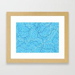 Milk Way Sky Blue Framed Art Print
