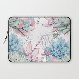 Pretty Pastel Succulents Garden 2 Laptop Sleeve