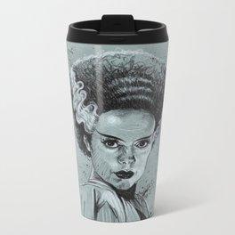 The Bride of Frankenstein Metal Travel Mug