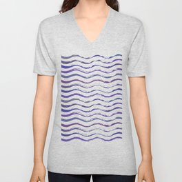 Ultraviolet waving Unisex V-Neck
