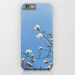 First to Bloom - Magnolia Flower Photography iPhone Case