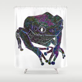Psychedelic Giant Monkey Frog Shower Curtain
