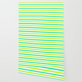 Green stripes Wallpaper