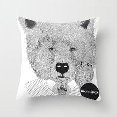 Morning bear Throw Pillow