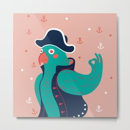 Hello children, says the nice pirate parrot Metal Print