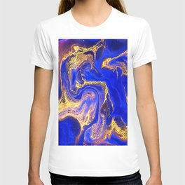 Marble gold and deep blue T-shirt
