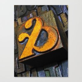 and… oldskool letterpress ampersand type Canvas Print