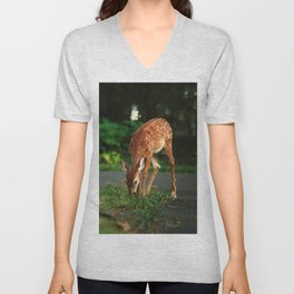 Fawn in the woods Unisex V-Neck