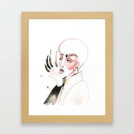 Long Nails in the House of Velour Framed Art Print