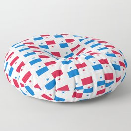flag of panama 2 -Panama,Panamanian,canal,spanish,San Miguelito,Tocumen,latine,central america,panam Floor Pillow