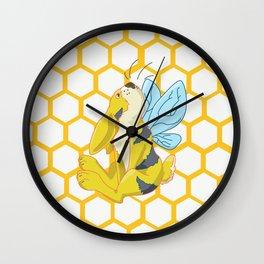 Bunny Bee / Bumble Bunny Wall Clock