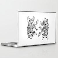 clockwork Laptop & iPad Skins featuring clockwork bear by vasodelirium