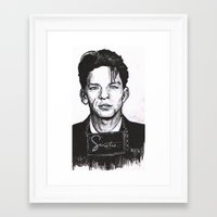 frank sinatra Framed Art Prints featuring Sinatra by R.E.V. Illustrations