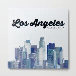 Big LA Metal Print