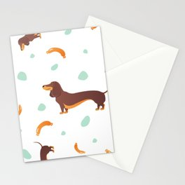 Simple modern Seamless pattern with dog. Cartoon pattern. Stationery Cards