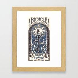 Bicycle Space Patrol Framed Art Print