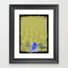 SHOCK VISOR Framed Art Print