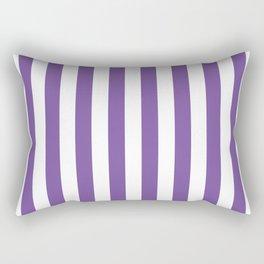Vertical Purple Stripes Rectangular Pillow