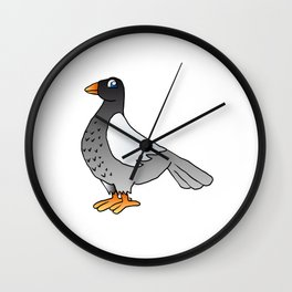 cartoon pigeon. Wall Clock