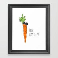 Bon Appetegan - Vegan Cooking Framed Art Print