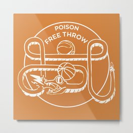 POISON FREE THROW Metal Print
