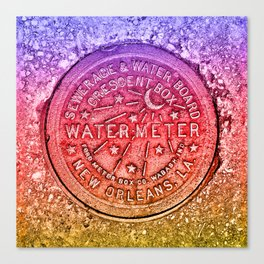Rainbow Water Meter New Orleans Sewer Ford Canvas Print