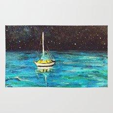 Sailboat Under The Stars Rug