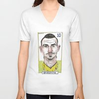 zlatan V-neck T-shirts featuring ZLATAN by BANDY