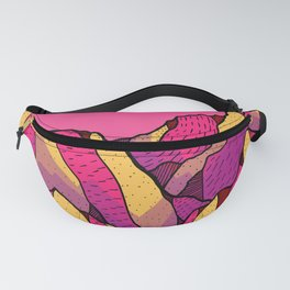 Rhubarb and custard mountains Fanny Pack